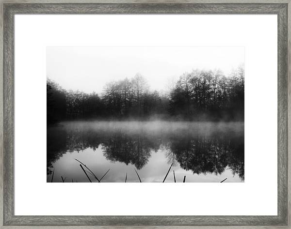 Chilly Morning Reflections Framed Print