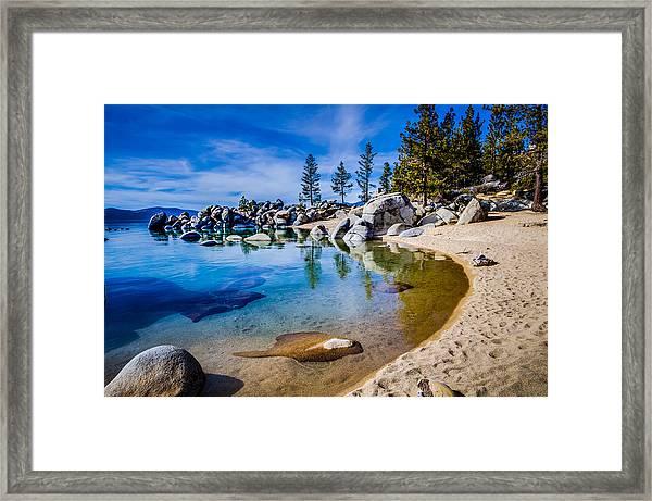 Chimney Beach Lake Tahoe Shoreline Framed Print