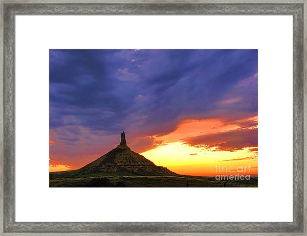 Chimney Rock Nebraska Framed Print