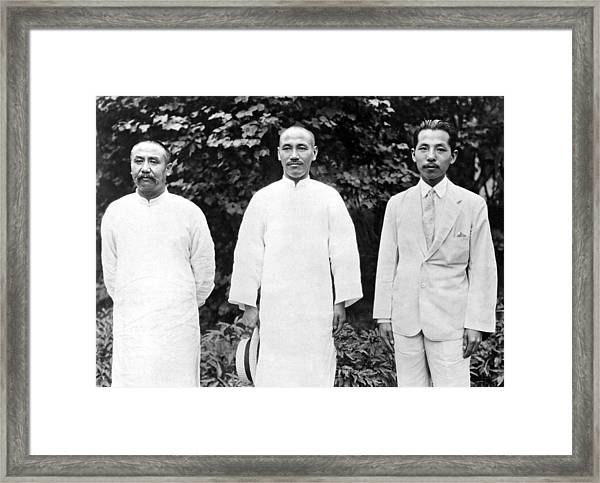 China's War Leaders Conference Framed Print