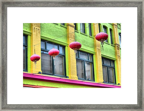 Chinatown Colors Framed Print