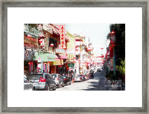 Chinatown Gate On Grant Avenue In San Francisco 7d7175wcstyle Framed Print