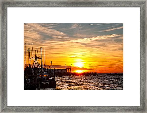 Chincoteague Bay Sunset Framed Print