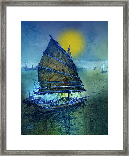 Chinese Junk Framed Print