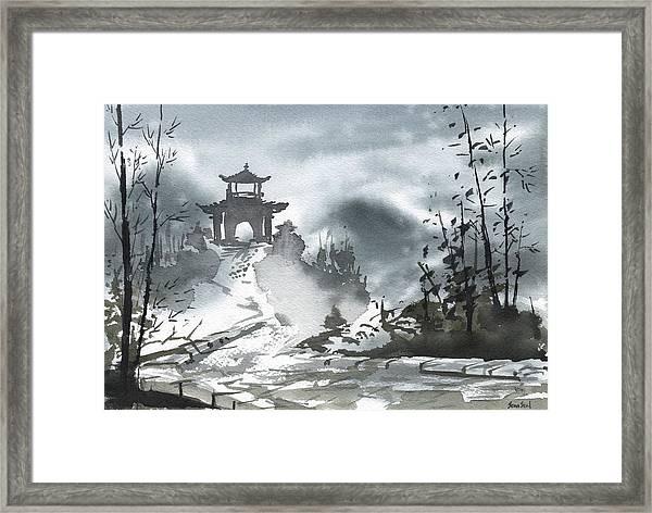 Chinese Landscape Framed Print