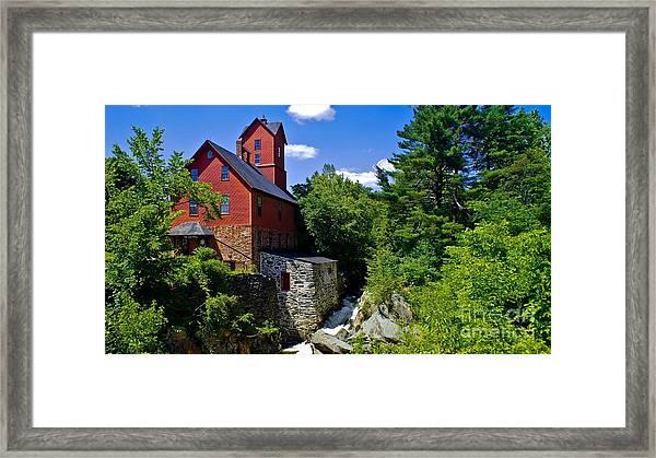 Chittenden Mills. Framed Print