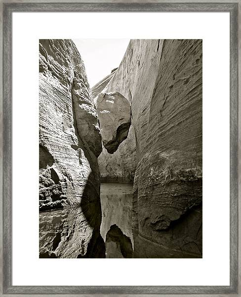 Chock Rock Framed Print