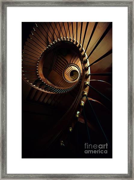 Chocolate Spirals Framed Print