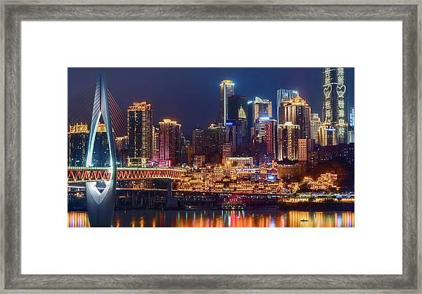 Chongqing Hongya Cave Framed Print