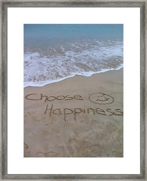 Choose Happiness Framed Print
