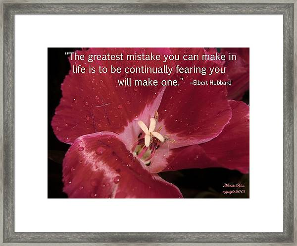 Choose Your Quote Choose Your Picture 8 Framed Print