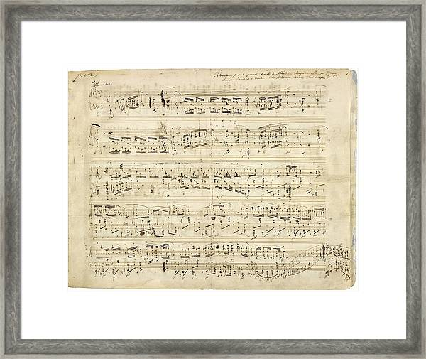 Chopin Polonaise Op 53 Framed Print