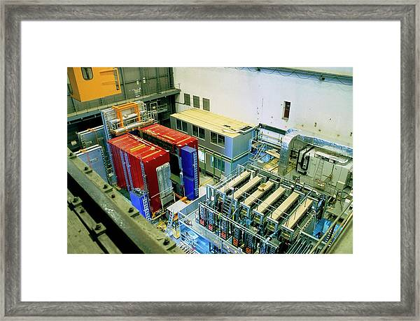 Chorus And Nomad Neutrino Detectors Framed Print by Cern/science Photo Library