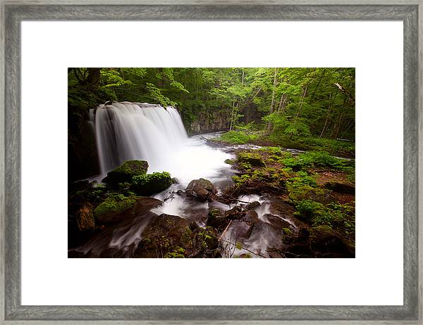 Choushi - Ootaki Waterfall In Summer Framed Print