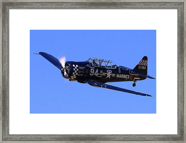 Chris Lefave In His North American Snj-4 Midnight Express At Reno Air Races  Framed Print by John King