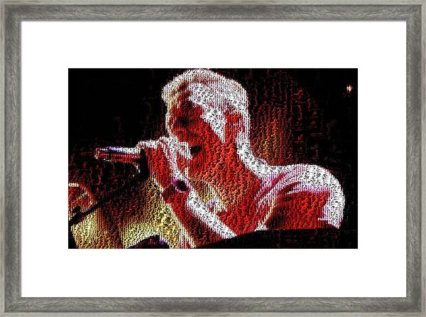Chris Martin - Montage Framed Print