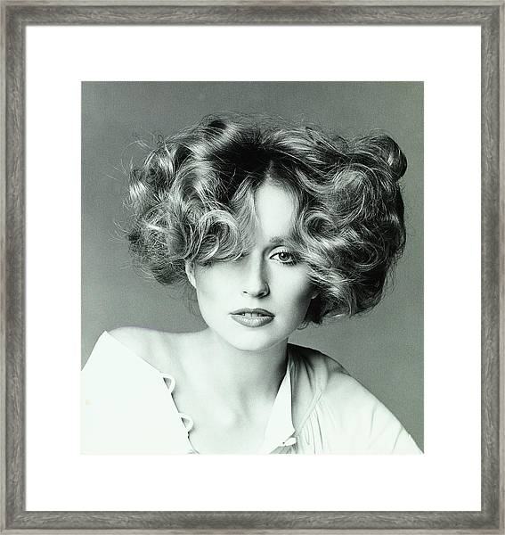 Chris Royer Wearing A Hair Style By Dina Azzolini Framed Print