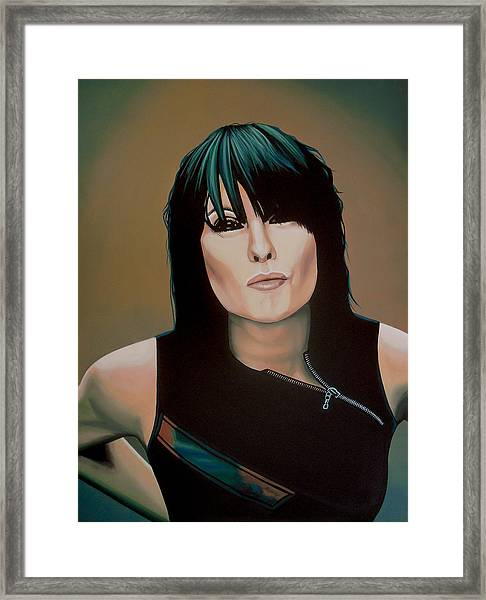 Chrissie Hynde Painting Framed Print