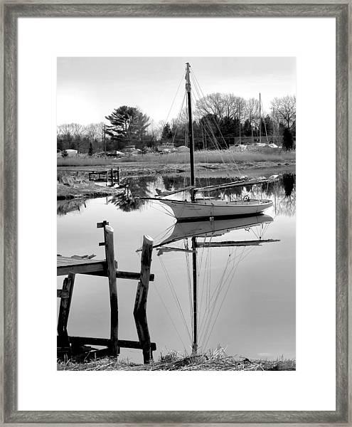 Chrissy In Black And White Framed Print