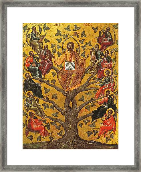 Christ And The Apostles Framed Print