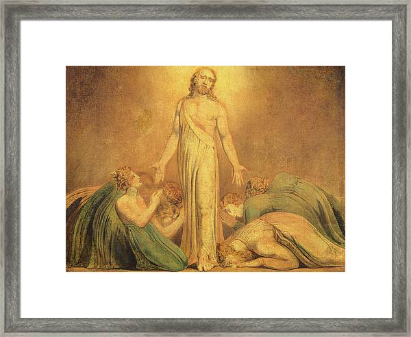 Christ Appearing To The Apostles After The Resurrection Framed Print