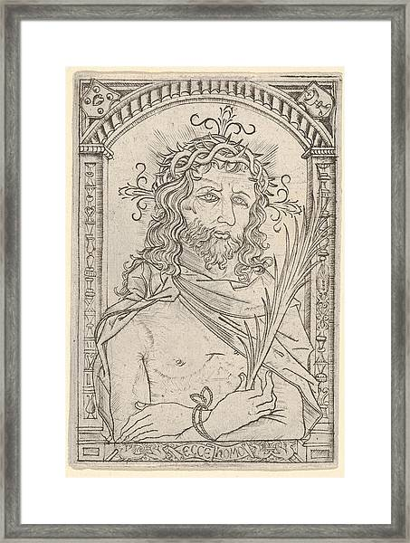 Christ As The Man Of Sorrows Set Framed Print
