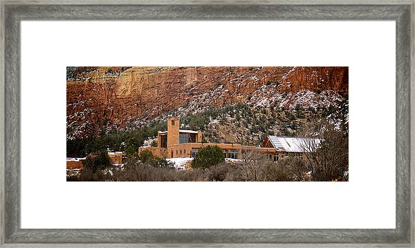 Christ In The Desert Monastery Framed Print