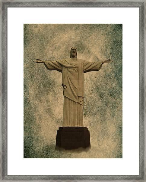Christ The Redeemer Brazil Framed Print