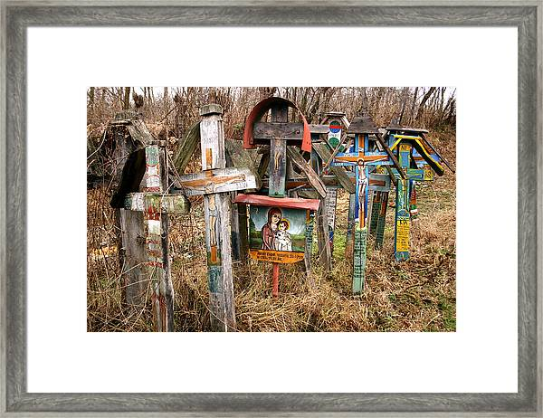 Christian Graveyard Framed Print
