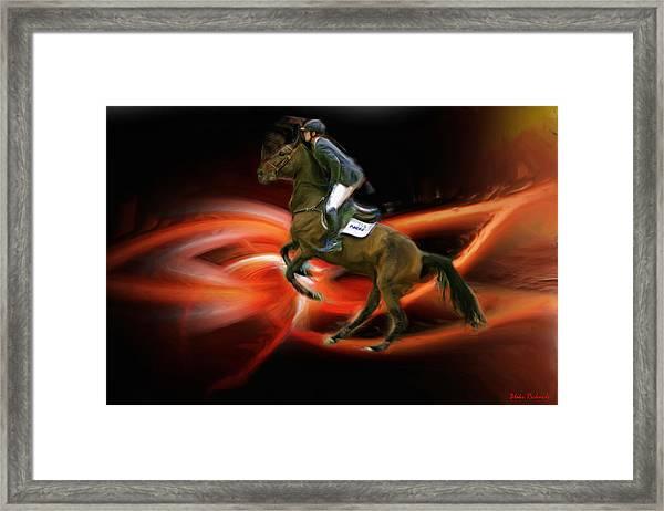 Christian Heineking On Horse Nkr Selena Framed Print