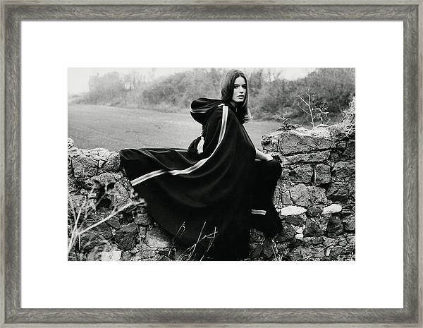 Christiana Bedogni Wearing An Avagolf Cape Framed Print