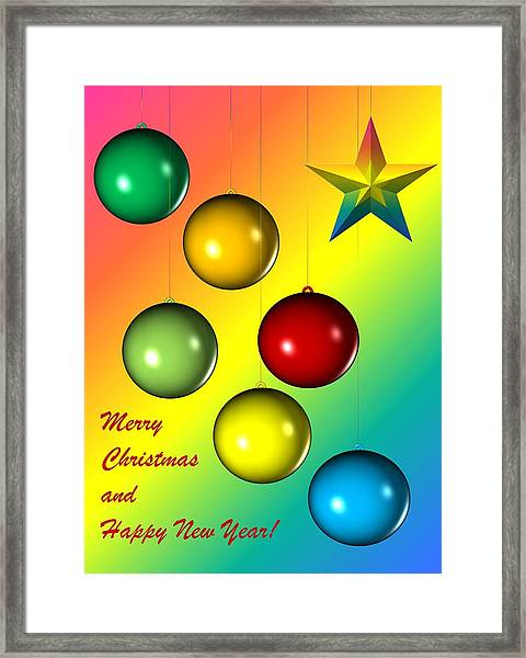 Christmas And New Year Framed Print