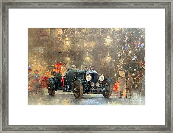 Christmas Bentley Framed Print