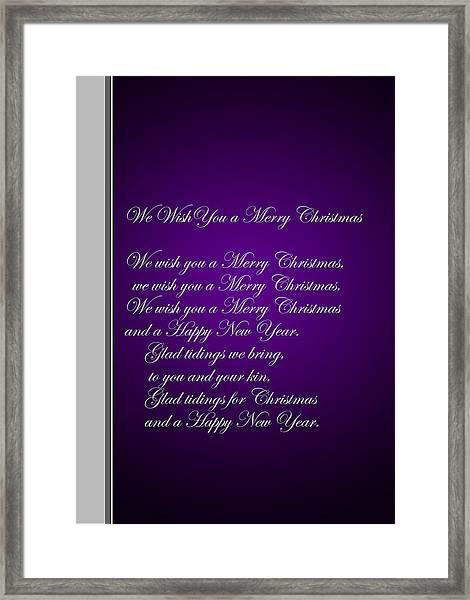 Christmas Carol 1 Framed Print