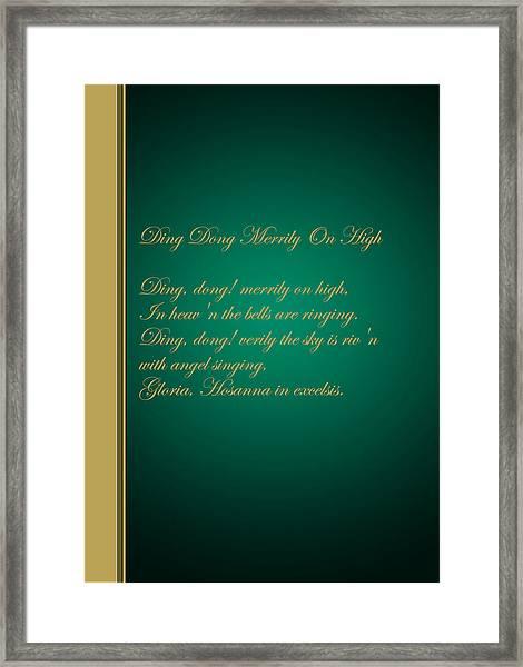 Christmas Carol 3 Framed Print