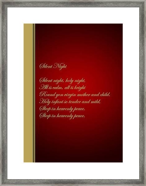 Christmas Carol 4 Framed Print