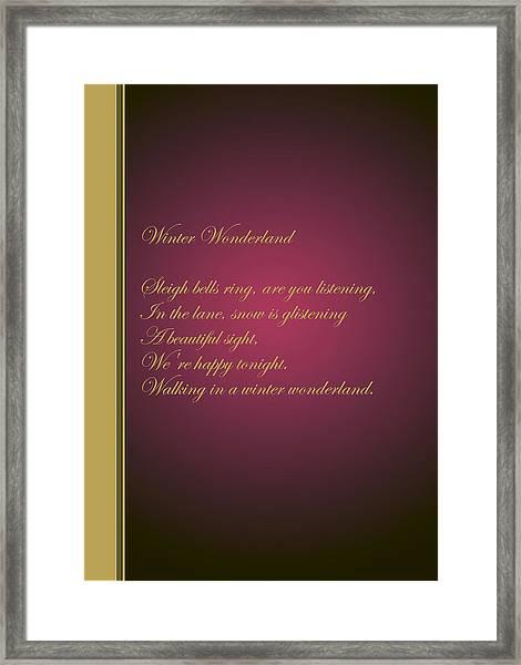 Christmas Carol 6 Framed Print