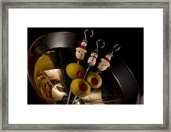 Christmas Crowded Martini Framed Print