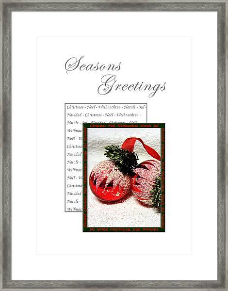 Christmas Decoration 1 Framed Print