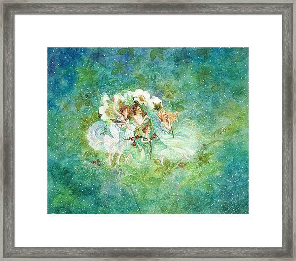Christmas Fairies Framed Print