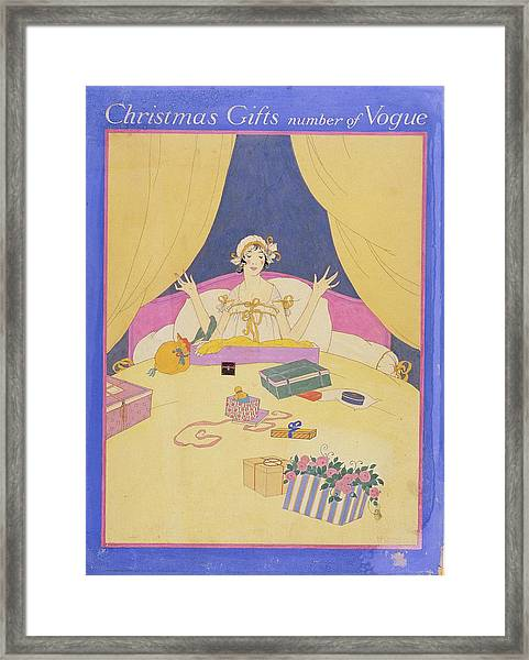Christmas Gifts Number Of Vogue Illustration Framed Print