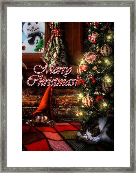 Christmas Greeting Card Viii Framed Print