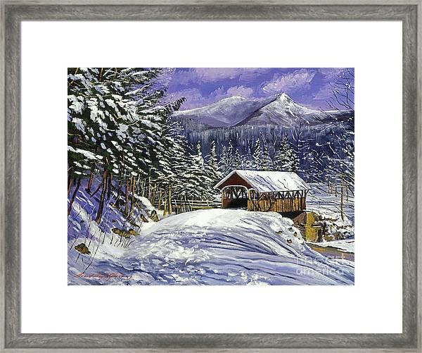 Christmas In New England Framed Print