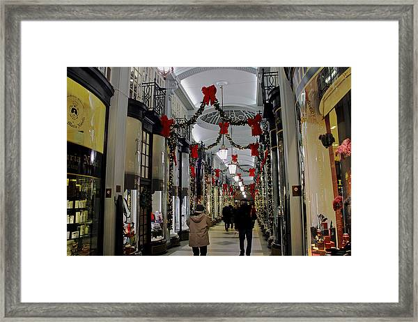 Christmas In Piccadilly Arcade Framed Print