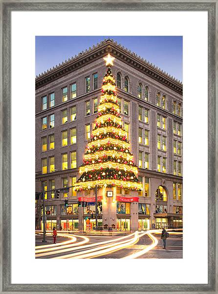Christmas In Pittsburgh  Framed Print