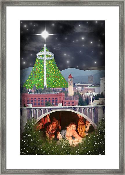 Christmas In Spokane Framed Print