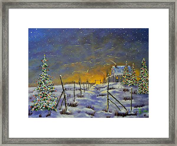 Christmas In The Country Framed Print