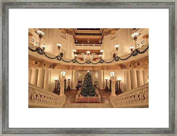 Christmas In The Rotunda Framed Print