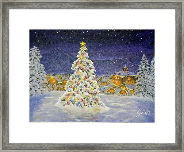 Christmas In The Valley Framed Print