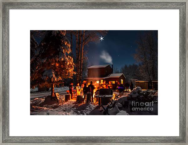 Christmas In The Woods Framed Print